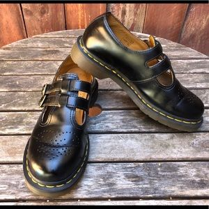 Dr martens Mary Jane double buckle shoes